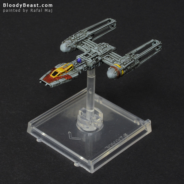 Star Wars Y-Wing painted by Rafal Maj (BloodyBeast.com)