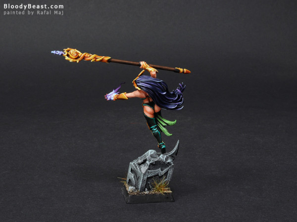 Wood Elves Spellsinger of Death painted by Rafal Maj (BloodyBeast.com)