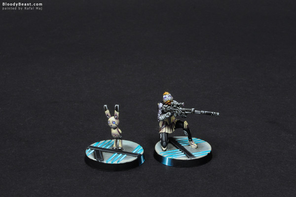 Aleph Atalanta and Spot Bot painted by Rafal Maj (BloodyBeast.com)