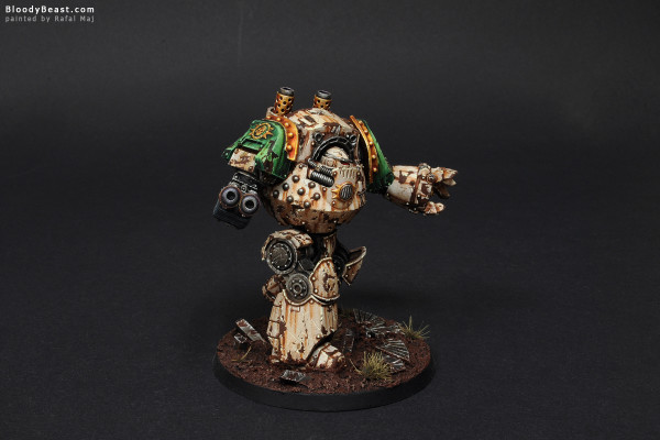 Death Guard Contemptor Dreadnought painted by Rafal Maj (BloodyBeast.com)