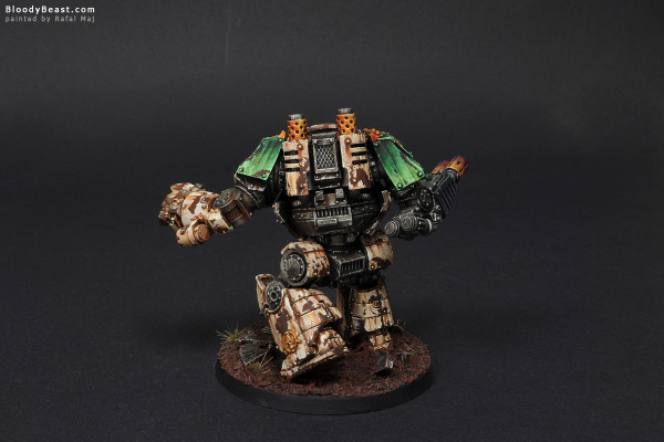 Death Guard Contemptor Dreadnought painted by Rafal Maj (BloodyBeast.com)