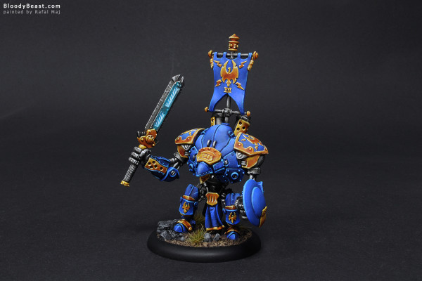 Cygnar Stormclad painted by Rafal Maj (BloodyBeast.com)