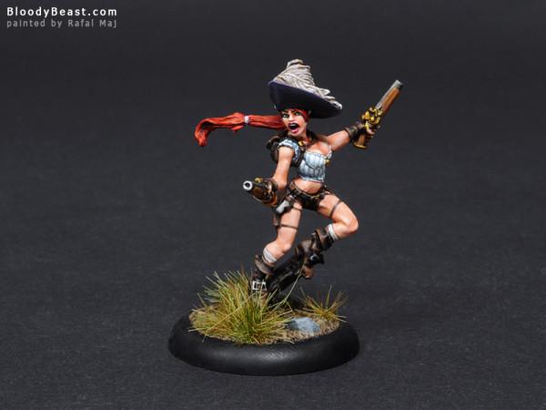 Freebooter Clara Cadora as Taryn di la Rovissi painted by Rafal Maj (BloodyBeast.com)