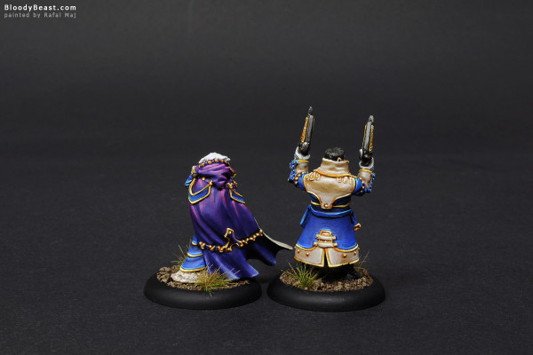 Lady Aiyana and Master Holt back painted by Rafal Maj (BloodyBeast.com)