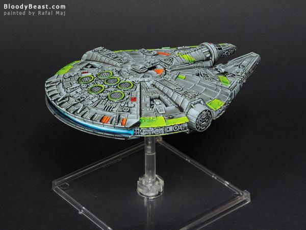 Star Wars YT-1300 Millenium Falcon painted by Rafal Maj (BloodyBeast.com)