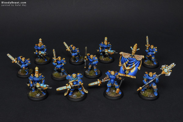 Stormblade Infantry And Storm Gunners with Unit Attachment painted by Rafal Maj (BloodyBeast.com)