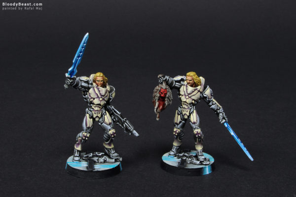 Aleph Achilles V2 in Hoplite Armor (Official Release and Limited Edition) Front painted by Rafal Maj (BloodyBeast.com)