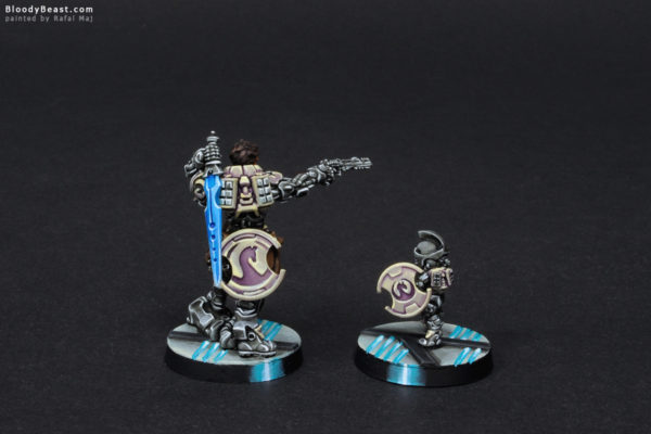 Aleph Hector the Homerid Champion and Tinbot Back painted by Rafal Maj (BloodyBeast.com)