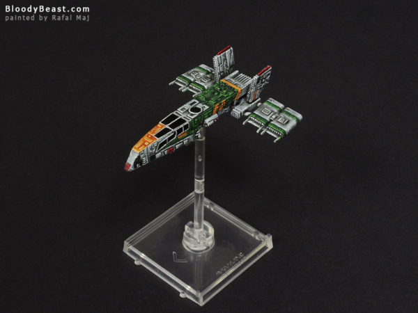 Star Wars HWK-290 painted by Rafal Maj (BloodyBeast.com)