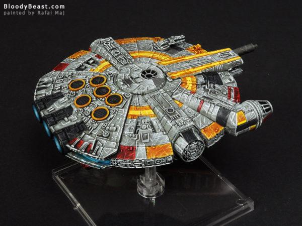 Star Wars Millennium Falcon UFO-1300 painted by Rafal Maj (BloodyBeast.com)