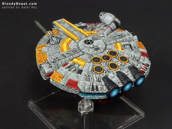 Star Wars Millennium Falcon UFO-1300 painted by Rafal Maj (BloodyBeast.com)