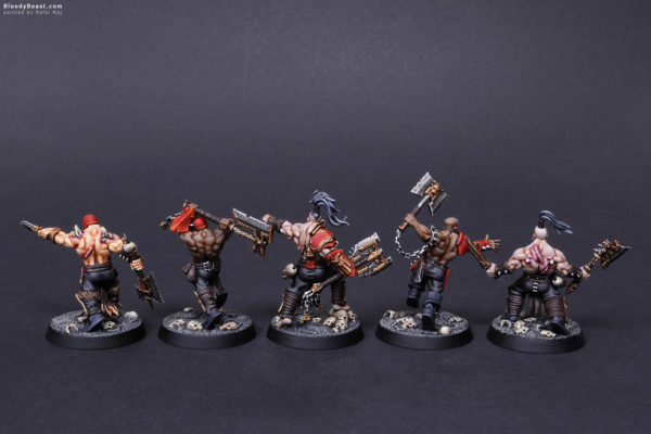 Shadespire Garrek's Reavers Back painted by Rafal Maj (BloodyBeast.com)