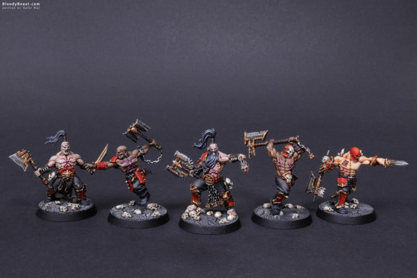 Shadespire Garrek's Reavers Front painted by Rafal Maj (BloodyBeast.com)