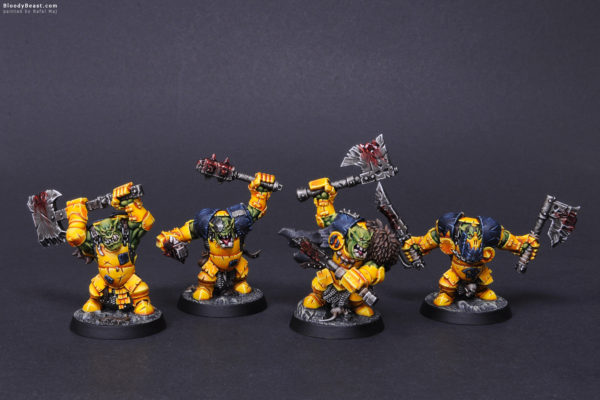 Shadespire Ironskull's Boyz Front painted by Rafal Maj (BloodyBeast.com)