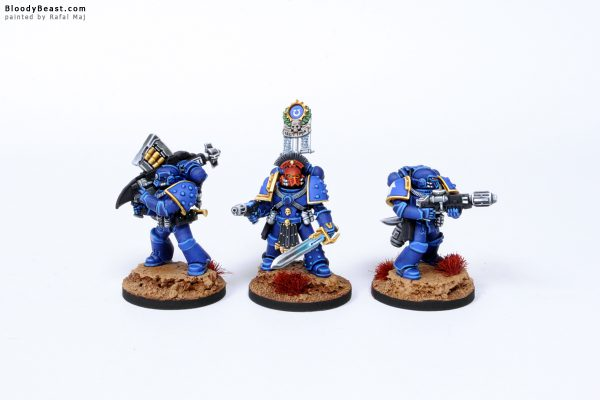 Ultramarines Space Marines in Mark IV Power Armour 1