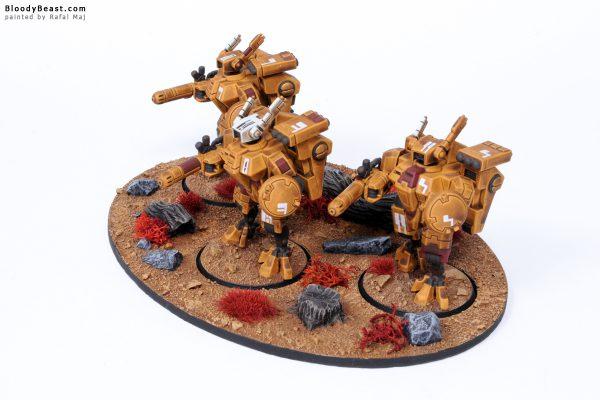 Tau XV8 Crisis Battlesuit Team 3